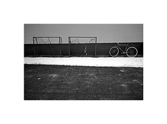 sports still (Marek Pupk) Tags: life street leica blackandwhite bw film monochrome bicycle sport analog photography still europe village outdoor central documentary xp2 slovakia ilford m6