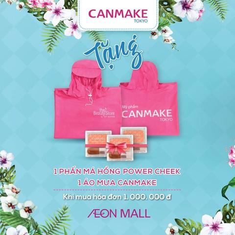 Tặng ngay phấn má hồng Powder Cheek & 1 áo mưa Canmake
