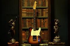A True Classic (Jon Scherff) Tags: guitar books fender electricguitar antiquebooks fenderesquire nikond810