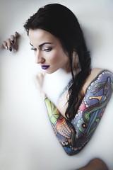 dorota.04 (guzik_) Tags: portrait woman girl beauty tattoo female nude dorothy 50mm milk nikon bath grunge 50mm14 nikkor tattooedgirl d610