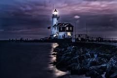 Lighthouse at Night (mcalma68) Tags: longexposure nightphotography lighthouse lake clouds waterfront hetpaardvanmarken markennetherlands