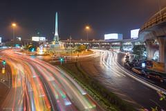 Victory Monument @ Night (sherwinreyesfotografia) Tags: longexposure nightphotography thailand asia southeastasia nightscape bangkok sony lighttrails a7ii krungthep victorymonument centralbangkok thailandtourism fe1635mm