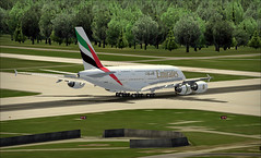 Freia... (davibr) Tags: day zurich landing airbus a380 brake 380 fs2004 fsx spoilers fs9 lszh