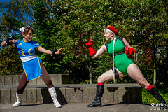 Street Fighter - Chun Li vs Cammy - Emerald City Comicon 2016 (shorbo) Tags: saturday cammy streetfighter emeraldcitycomicon shunli eccc2016