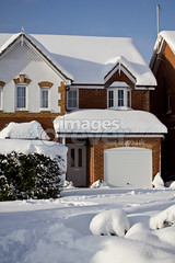 Beautiful Snow House (the UMF) Tags: christmas street door xmas roof winter sky white house holiday snow cold building home window beautiful vertical season europe realestate buried outdoor snowy entrance nobody front step photograph covered copyspace shrub picturesque fronton