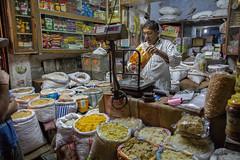 Spice trader in Jaipur / India (!eberhard) Tags: india market spice markt indien jaipur rajasthan trader gewrz hndler