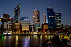 skyline (pedro smithson) Tags: city sky sculpture reflection art water night easter lights nikon elizabeth nightscape australia quay perth wa urbanism oceania 2016 oceanica spanda christiandevietri d5100 pedrosmithson