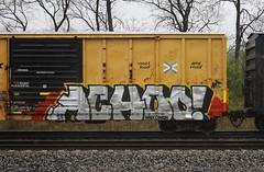 Achoo (quiet-silence) Tags: railroad art train graffiti railcar boxcar graff freight ttx rbox achoo fr8 railbox