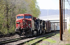 CP 9543 AC44CW reverse move (Conrail1978) Tags: railroad up yard train back am pacific ns norfolk engine loco move canadian southern pa pan reverse cp ge railways mec unit enola emd sd402 3401 ac44cw 8927 9543 c409w