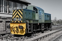 45 Wansford Shunter selective colour (crusha5050) Tags: diesel engine railway rails signalbox selectivecolour dieselengine diesellocomotive nenevalleyrailway