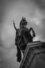 Apotheosis of St. Louis (Eric B | RIP Prince) Tags: blackandwhite monochrome statue noiretblanc stlouis stl bnw forestpark stlouisartmuseum bwphotos apotheosisofstlouis zeiss35mmf28 sonya7rii