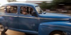 Old Car - blue - Havana/Cuba (Enio Godoy) Tags: street leica travel streetart car speed fineart havana cuba frias journey viagem carro vehicle oldcar panning vacations velocidade carroantigo veculo niksoftware viveza2 leicadlux6