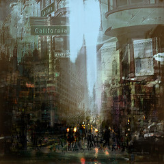California Dream (Stacy Ann Young) Tags: sanfrancisco california composite photomanipulation downtown digitalart