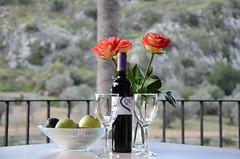 Mallorca genieen... (Schwubb) Tags: holiday hotel nikon wine balkon urlaub terrasse orient mallorca ferien glas wein obst glser ballearen d7000 hotellhermitage