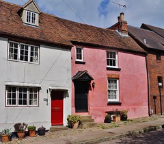 The Pink House (dlanor smada) Tags: pink chilterns aylesbury bucks cottages slopes