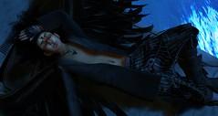 Let Your Demons Run... (Jinx Ulrik) Tags: blue water angel night wings secondlife fallenangel darkangel jinx gos dystopia unorthodox chronokit realevilindustries ihavenoideawhereigotthewings jinxulrik