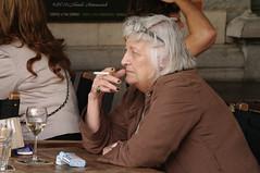 Portrait (Natali Antonovich) Tags: brussels portrait cafe belgium belgique belgie smoke profile lifestyle stare tradition relaxation terras sablon reverie dezavel sweetbrussels