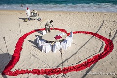 Dinner preparation (Junshen Wang) Tags: love beach mexico sand romance whitesand cabosanlucas dinnerpreparation romanticdinner