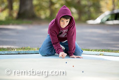 Boy Playing Marbles (Remsberg Photos) Tags: blue usa game fun maryland leisure alta setup marbles awards tradition activity cumberland compete