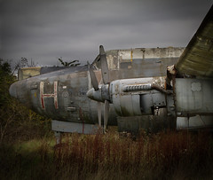 Redundent (Martyn Andrew) Tags: outside aircraft transport disused warwickshire canon7d avroshackletonwr985