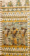 Warriors on ancient Babylon's walls -       (canaanite98) Tags: from berlin history wall museum germany ancient gate iraq syria warriors babylon ishtar assyria ashur arabs aramaic assyrians chaldeans sumerians