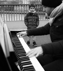 Music on the street (Christof Timmermann) Tags: street music paris blackwhite piano olympuspen streetfotography