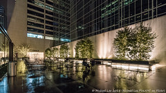 Wet Patio (DSC00633) (Michael.Lee.Pics.NYC) Tags: newyork wet rain architecture night sony 42ndstreet reflction mkii markii sixthavenue gracebuilding outdoorspace fe1635mmf4 a7rm2