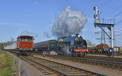 777. Passing through .. (Alan Burkwood) Tags: steam signals locomotive 777 sr semaphore n15 swithland maunsell gcr sirlamiel