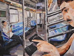 Commuters (Megan Coyle) Tags: camera art collage paperart subway portraiture collageart commuting commuters nycsubway papercollage figurativeart collageartist figureart magazinecollage megancoyle coylecollage paintingwithpaper
