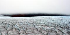 This is the Line of Division (Dru!) Tags: blue sky cloud white canada black cold ice weather bc britishcolumbia glacier crevasse glacial coastmountains unuk crevasses ksm bell2 boundaryranges mitchellglacier seabridgejulyolympus
