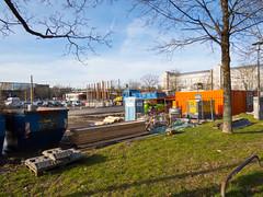 Demolition Post at Hanns-Seidel-Platz / Buildung  temporary Parking Lot (Wolkenkratzer) Tags: munich mnchen parkinglot postbank post bank demolition neuperlach neuperlachzentrum fritzerlerstrase hannsseidelplatz