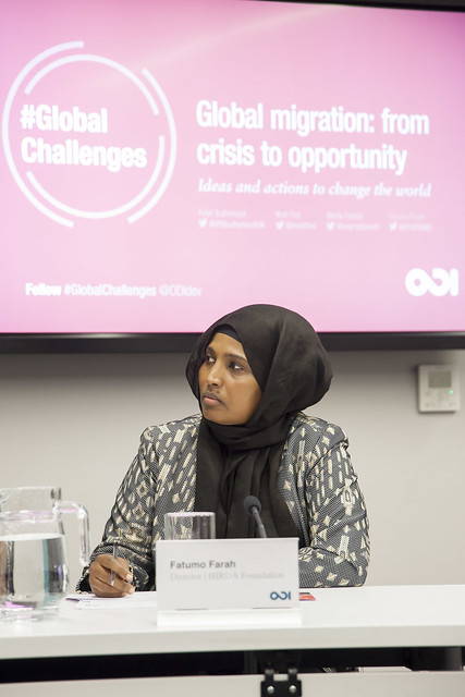 Fatumo Farah at ODI's event Global migration: from crisis to opportunity