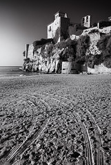 Aren't these your wheel tracks…? f10; 1/160s; ISO 100; FL:18mm. © Juan Manuel Saenz de Santa María, 2016. (Brenus) Tags: sea white seascape black marina landscape photography mediterranean photographers sidelight impresiones tumblr lensblr