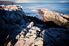 DR4-008-2A (David Swift Photography Thanks for 16 million view) Tags: film water 35mm bay rocks maine newengland coastline fujichrome seashore nikonfm2 capeelizabeth cascobay rockycoastline southportlandmaine davidswiftphotography