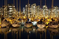 Vancouver from False Creek (Texas. Ranger) Tags: night vancouver boats waterfront falsecreek vancouveratnight