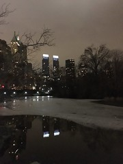 (MyChixpix) Tags: newyork ice nature skyline pond centralpark timewarnercenter centralparkpond