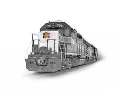 IAIS 709 (david.horst.7) Tags: railroad train poster rail whitebackground emd gp382 iais iowainterstaterailroad