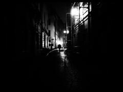 (blazedelacroix) Tags: old blackandwhite monochrome misty headless night town blazedelacroix
