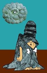 Schleprock (C. Neil Scott) Tags: cloud eye texture fur southcarolina badluck adobeillustrator vectorillustration westcolumbiasc schleprock pebblesbammbamm