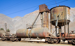 Probably not safe. (david_gubler) Tags: chile train railway tankcar llanta potrerillos sulfuricacid ferronor