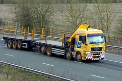 Ainscough Crane Hire 8th March 2016 (asdofdsa) Tags: motorway transport vehicle trucks trailer m62 haulage hgv drawbar ainscough 8thmarch2016