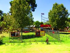 GOUD bike parking lot (RS 1990) Tags: festival fringe 18th adelaide february thursday southaustralia period 2016 rundlepark gardenofunearthlydelights goud16