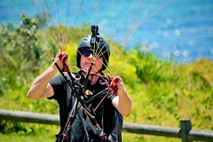 Tandem Paragliding (Jeremy Denham) Tags: danger fun high sunny paragliding warriewood