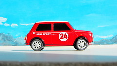 Canned Heat Radio Controlled Mini Cooper By Tyco R/C Mattel Incorporated 1998 : Diorama Boneville Salt Flats - 3 Of 21 (Kelvin64) Tags: by radio salt mini flats cooper heat canned 1998 rc mattel diorama incorporated controlled tyco boneville