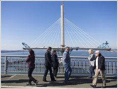 Queensferry Crossing Walkers (The Anti-Sharpness League) Tags: road bridge scotland crossing fife olympus forth queensferry jadmor