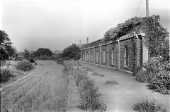 Mangotsfield station (2), 1975 (Blue-pelican-railway) Tags: film station bristol closed railway junction midlandrailway mangotsfield beeching
