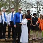 "<b>Olmstead Heston</b><br/> Steve Heston '00 and Stacy Olmstead were married on April 25, 2015, at Camp Tanglefoot in Clear Lake, Iowa. It proves that Wartburg orange and Luther blue can work!  Stacy is a 2000 Wartburg grad. The couple lives in Britt, Iowa.<a href=""http://farm2.static.flickr.com/1637/25454405576_0f991fedd2_o.jpg"" title=""High res"">∝</a>"