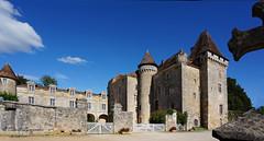 Saint Jean de Cle, Chateau de La Marthonie (claude.lacourarie) Tags: castle castles village dordogne chateau palaces cottages perigord statelyhomes lesplusbeauxvillagesdefrance manorhouses marthonie jeandecle
