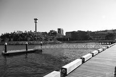 0D6A7080 - Barangaroo (Stephen Baldwin Photography) Tags: blackandwhite water monochrome skyline architecture bay sandstone rocks waterfront harbour outdoor jetty sydney australia quay nsw pontoon barangaroo
