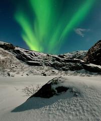 First Sighting (Panorama Paul) Tags: cold ice norway reine northernlights auroraborealis lofotenislands nikkorlenses nikfilters vertorama nikond800 wwwpaulbruinscoza paulbruinsphotography